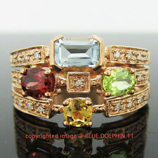 Real Genuine Natural Diamond Gemstone Solid 9k Rose Gold Engagement Wedding Ring