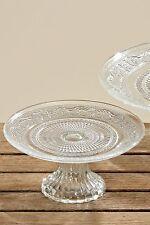 Tortenplatte Servierplatte Etagere Relief D18cm Glas klar
