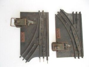 Vintage Marx MANUAL SWITCH SET  LH RH Turnout Tracks 027