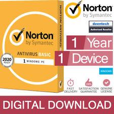 Norton Antivirus Basic 2020 (1 PC) Security Genuine Authentic License Windows