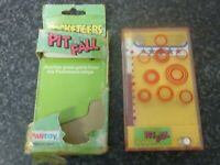 VINTAGE 1978 TOMY POCKETEERS PIT FALL GAME ORIGINAL PACKAGING MADE IN SINGAPORE