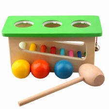 Wood Knock Sound Hammer Ball Percussion Punch Drop Instruments Kid Education Toy