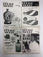 Vintage Antique Bottle World Magazine Sept - Dec 1980 - Lot of 4 Free Ship