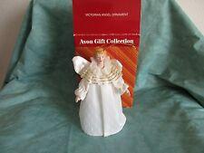 Vintage Avon Victorian Angel Ornament Porcelain Face hands w/original box