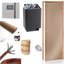 Sauna Kit Four de 34A 7,5kw Porte Contrôleur D1 Papier D'Aluminium Bois