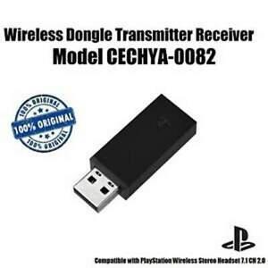 Genuine Sony PlayStation34 Gold Wireless Headset USB Dongle Receiver CECHYA-0082