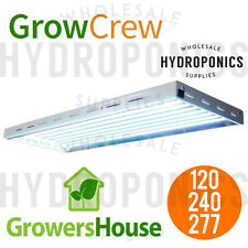 GrowersHouse Grow Crew HO T5 V2 4', 8 Bulb Fixture w 6500k Bulbs - 120/240/277v
