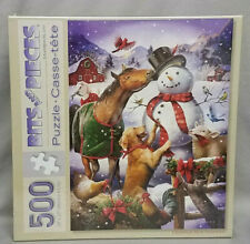 Bits and Pieces 500 Piece Jigsaw Puzzle Christmas Barn