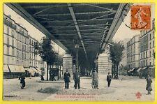 cpa Collection Fleury PARIS en 1907 Bd de GRENELLE Métro Aérien Agent de Police