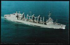 USS Kalamazoo AOR-6 postcard  US Navy ship Replenishment Fleet Oiler (cd2)