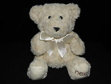 NEXT TEDDY BEAR SOFT TOY CREAM NECK RIBBON COMFORTER DOUDOU
