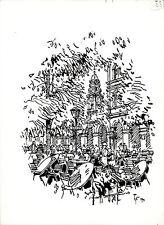 Originalzeichnungen über Landschaften & Städte (ab 1950) mit Aquarell