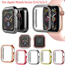 Bling PC Hard Case for Apple Watch 5 4 3 2 1 iWatch Bumper Shockproof Cover 44mm