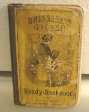 BRISBEE'S GOLDEN READY-RECKONER 1863 HC 195 PAGES DICK&FITZGERALD PUBL.
