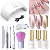 BORN PRETTY UV Manicure Kit Gel Polish Mirror Jelly Nail Art Set 24W LED Lamp