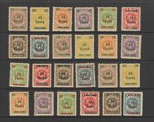 Lithuanian Occupation of Memel 1923 ( Dec ) Set of 24 , MH , SG 91 - 114