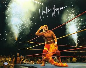Hulk Hogan Signed HulkaMania 16x20 Photo *WCW *NwO Wrestling BAS I57308
