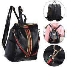 UK Women Backpack Girls Travel Shoulder Bag Ladies PU Leather Zip Rucksack New