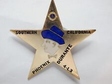 Jimmy Durante Sherriff Badge Southern California Pheonix 4L3 Bar Advert ?