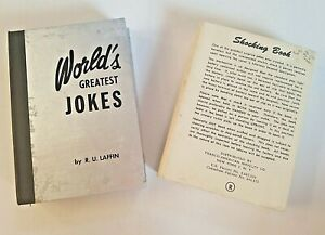 SHOCKING BOOK Worlds Greatest Jokes by R U Laffin Franco American Novelty Co