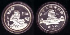 "China 10 Yuan Silber 1992 ""Jahr des Affen"" PP"
