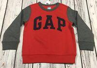 Baby Gap Boys 4 / 4T Red & Gray GAP Logo Sweatshirt. Nwt
