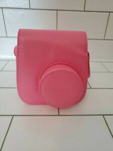 FLAMINGO Pink Fujifilm Camera Travel Carrier Case for Instax Mini 8 or 9