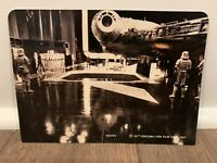 STAR WARS DISPLAY ARENA BACKDROP MILLENNIUM FALCON C9.5+ ESB KENNER VINTAGE 1982