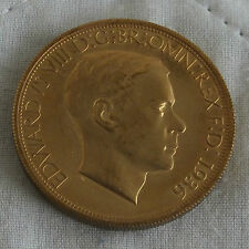 EDWARD VIII 1936 GOLDEN ALLOY PROOF PATTERN MILLED EDGE CROWN - mintage 18
