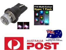 2 X T10 Rainbow Flashing LED Side Wedge Park Light 501 Holden Ford Toyota Mazda
