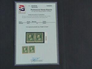 Nystamps US Stamp # 387 Mint OG H $475 Pair PSE Certificate j16ys