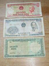 3 Pcs Vietnam Notes (See Photos)