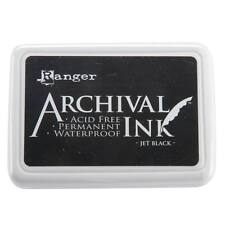 Ranger Archival Ink Waterproof Permanent Ink Pad Non-Toxic JET BLACK