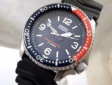 Seiko Ceramic Blue 'Spork' Pepsi Bezel Automatic Pilot Diver Watch Custom SKX007
