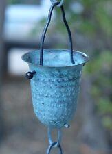Hammered Patina Cups Rain Chain