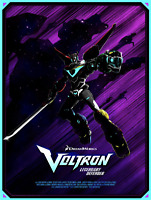Voltron by bruce Yan Poster Print Mondo Art Edition #35 18x24