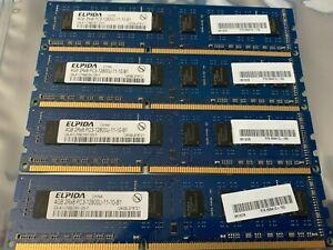 16GB (4GBx4) ELPIDA DDR3 1600MHz 2RX8 PC3-12800U 11-10-B1 Desktop Memory