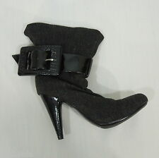 JESSICA SIMPSON Js Makan Herringbone Fabric Fashion Ankle Boots size 5.5 B