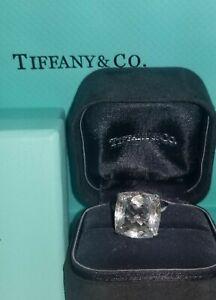 13.55 ct. Tiffany & Co 18K white  gold white topaz cushion shape