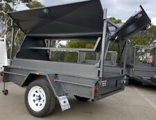 7x4 TRADESMAN TOP TRAILER WITH REAR DOOR