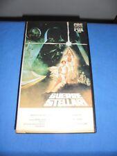 """LUCAS """"GUERRE STELLARI"""" VHS PANARECORD VF-V 22112"""