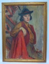 1934 LARGE BEAUTIFUL OIL PAINTING  BY DOLYA GOUTMAN- RUSSIAN/AMERICAN ARTIST