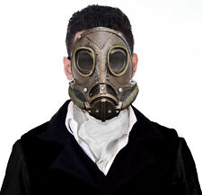 MENS VICTORIAN STEAMPUNK GAS MASK LATEX FANCY DRESS HALLOWEEN COSTUME MASQUE NEW