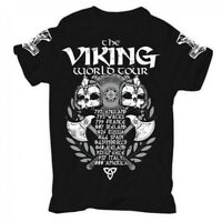 Viking World Tour T shirt Men Viking Warriors Odin tee USA size S-3XL