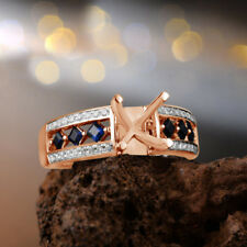 3.50 Ct Princess Cut Semi Mount Setting Engagement Wedding Ring 10K Rose Gold