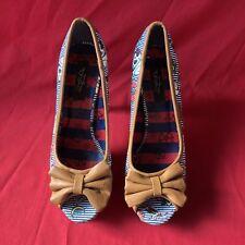 Q7 Motif Tatouage Stilettos Chaussures Femmes Taille UK 6