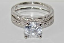 Sterling Silver (925) 2.25ct Bridal Set Ring - size N (2 Ring's)