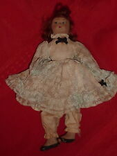 "Vintage 8.5"" Chad Valley Hygienic Toys Composition Girl Doll Blue Label  D7"
