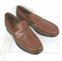 Cole Haan Grand OS Brown Leather Stitched Penny Loafers Shoes Mens 12 M EUC