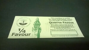 1/4  Favour Calderdale Local Currency Banknote - Uncirculated, No Serial Number